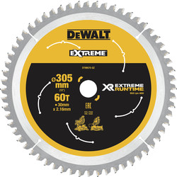 DeWalt DeWalt XR Flexvolt Mitre Saw Blade 305mm x 30mm x 60T - 95304 - from Toolstation