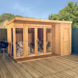 Mercia Mercia Corner Summerhouse With Side Shed 12' x 8' - 95461 - from Toolstation