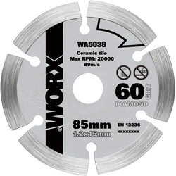 Worx Worx Diamond Circular Saw Blade 85 x 15mm - 95479 - from Toolstation