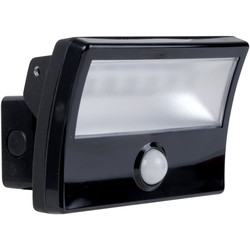 28W PIR LED Floodlight IP65 Black 2300lm