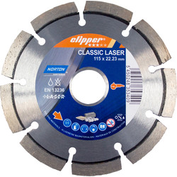 Norton Norton Specialist Laser Diamond Blade 115 x 22.2mm - 95485 - from Toolstation