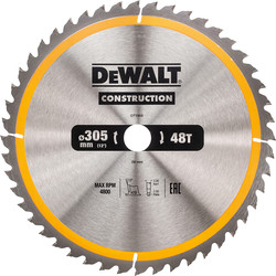 DeWalt DeWalt Construction Circular Saw Blade 305 x 30mm x 48T - 95503 - from Toolstation