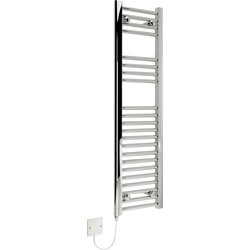 Kudox Kudox Electric Pre-Filled Chrome Flat Towel Radiator 1100 x 300mm 150W - 95542 - from Toolstation