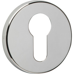 Euro Escutcheon Set Polished Nickel