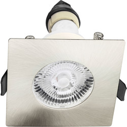 Integral LED Integral LED Square Evofire IP65 Fire Rated Downlight Satin Nickel - 95755 - from Toolstation