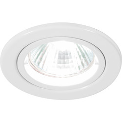 Halolite Cast Ring 240V/12V Fixed Downlight White - 95798 - from Toolstation