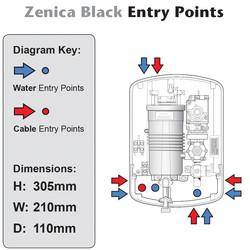 Triton Zenica Black Electric Shower