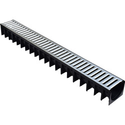 Drain Channel & Grating 1m Steel Grating - 95866 - from Toolstation