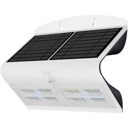 Luceco Luceco SOLAR Guardian 6.8W PIR Wall Floodlight IP44 White 750lm - 95867 - from Toolstation