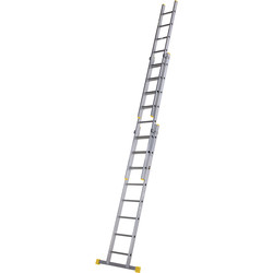 Youngman Youngman Box Section Extension Ladder 3 Section 2.5m - 95920 - from Toolstation