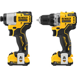 Dewalt DeWalt DCK2110L2T-GB 12V XR Li-Ion Brushless Compact Twin Pack 2 x 3.0Ah - 95966 - from Toolstation