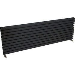 Ximax Ximax Bristol Double Horizontal Designer Radiator 584 x 1800mm 5903Btu Anthracite - 96075 - from Toolstation