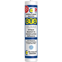 CTEC CT1 Sealant & Adhesive 290ml Clear - 96154 - from Toolstation