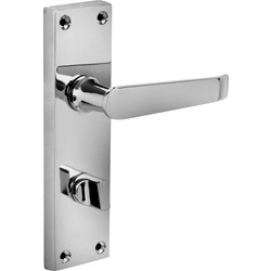 Hiatt Victorian Straight Door Handles Bathroom Polished - 96190 - from Toolstation
