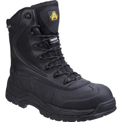 Amblers Safety Amblers AS440 Metal Free Hi-leg Safety Boots Black Size 11 - 96195 - from Toolstation