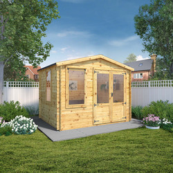 Mercia Merica Log Cabin - 19mm 2.6m x 3.3m - 96235 - from Toolstation