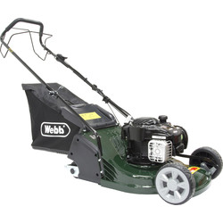 Webb Webb 43cm Self Propelled Rear Roller Petrol Rotary Lawnmower 140cc - 96320 - from Toolstation