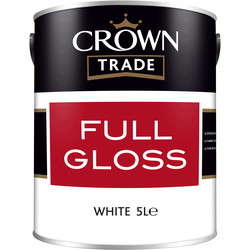 Crown Trade Crown Trade Full Gloss Paint 5L White - 96450 - from Toolstation