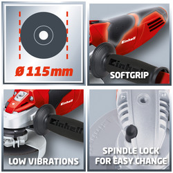 Einhell AG115 600W 115mm Angle Grinder
