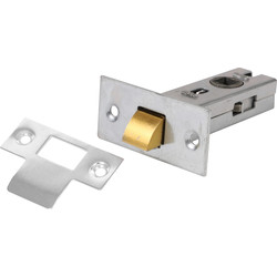 Unbranded Tubular Latch 75mm Nickel - 96588 - from Toolstation