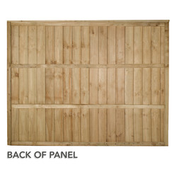 Forest Garden Pressure Treated Square Board 5ft Fence Panel