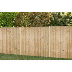 Forest Forest Garden Pressure Treated Square Board Fence Panel 6' x 5' - 96645 - from Toolstation
