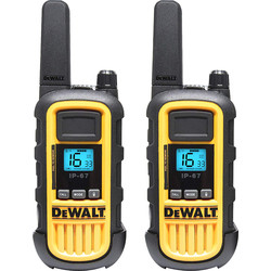 DeWalt DeWalt DXPMR800 Walkie Talkie Pair 10km Range - 96675 - from Toolstation