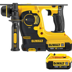 DeWalt DeWalt DCH253 18V XR Cordless SDS Plus Hammer Drill 2 x 4.0Ah - 96727 - from Toolstation