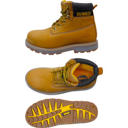 DeWalt DeWalt Hancock Safety Boots Wheat Size 8 - 96756 - from Toolstation