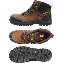 CAT Caterpillar Framework Safety Boots Brown Size 11 - 96863 - from Toolstation