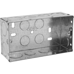 Appleby Metal Box 2 Gang 47mm - 96920 - from Toolstation