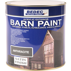 Bedec Bedec Barn Paint Satin Anthracite 2.5L - 96936 - from Toolstation
