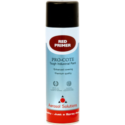 Industrial Spray Primer 500ml Red - 96961 - from Toolstation