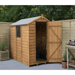 Forest Forest Garden Overlap Dip Treated Apex Shed 6' x 4' - 96977 - from Toolstation