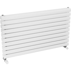 Ximax Ximax Bristol Double Horizontal Designer Radiator 584 x 1000mm 3274Btu White - 96996 - from Toolstation