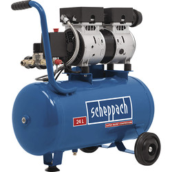 Scheppach Scheppach HC24Si 24L 0.75 HP Oil-Free Silent Air Compressor 230V - 97037 - from Toolstation