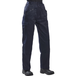 Womens Action Trousers Large Navy