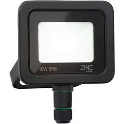Zinc Zinc Slimline LED Floodlight IP65 10W 700lm - 97345 - from Toolstation