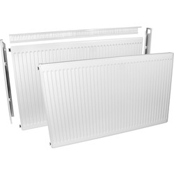 Barlo Delta Radiators Barlo Delta Compact Type 11 Single-Panel Single Convector Radiator 600 x 1200mm 4221Btu - 97376 - from Toolstation