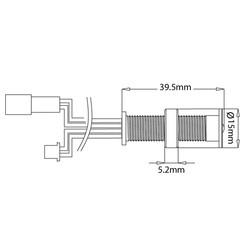 Sensio Specto LED IP44 Round Plinth Light