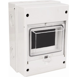 Weatherproof Moulded Enclosure For RCD/MCB 5 Modules IP55 - 97523 - from Toolstation