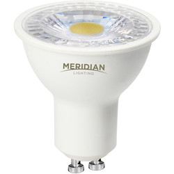 Meridian Lighting LED GU10 Lamp 5W Warm White 370lm 50 Pack - 97596 - from Toolstation