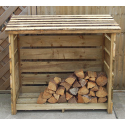 Forest Forest Garden Woodstore Small 129cm (h) x 122cm (w) x 88cm (d) - 97699 - from Toolstation