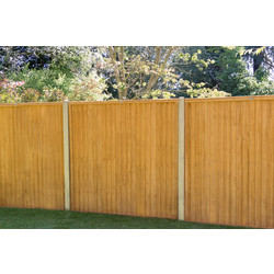 Forest Garden Closeboard Panel - 4 Pack 152cm(h)x183cm(w)