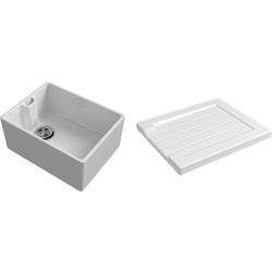 Reginox Reginox Reversible Traditional Belfast Ceramic Kitchen Sink & Drainer Accessory White - 98095 - from Toolstation