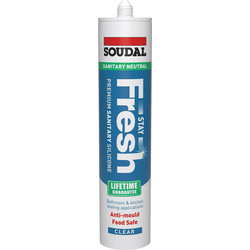 Soudal Soudal Stay Fresh Sanitary Silicone Sealant 300ml Clear - 98143 - from Toolstation