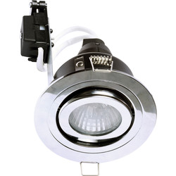 Spa Lighting SPA Adjustable Downlight GU10 35W IP65 Chrome - 98155 - from Toolstation