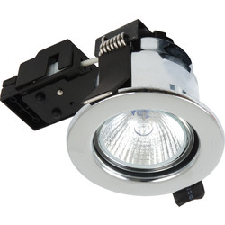 Sylvania Sylvania Fire Rated Downlight Fixed MR16 12V Polished Chrome - 98156 - from Toolstation