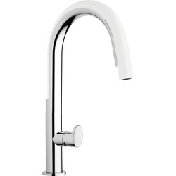 Franke Franke Valdo Pull Out Mono Mixer Kitchen Tap White - 98308 - from Toolstation