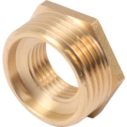 "Brass Hexagon Bush 3/4"" x 1/2"" - 98490 - from Toolstation"